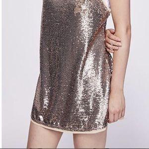 Free People Time to Shine  Mini Dress XS NWOT 🔥